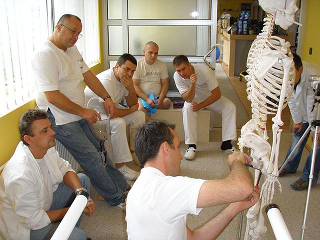 Human Study e.V. Ausbilder erklärt menschliche Anatomie