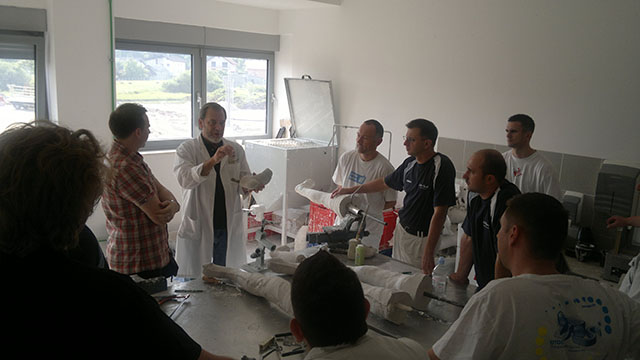 HS lecturer teaching Lower Extremity Orthotics