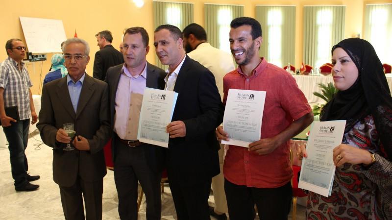 From left to right: Mahrez Lamine, Irfan Murtezani, Imed Djebbi, Belhay Merdassy, and Wafa Chabaane.
