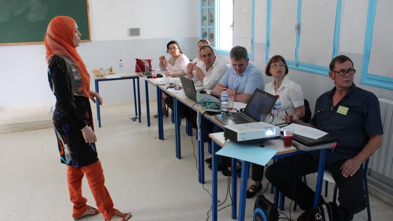 Ines Horrich and examination board (Dr. Fatma Ben Salah, I. Murtezani, C. Tardiff, prof. Frank Braatz, interpreter Susanne Friedrich, W. Raab).