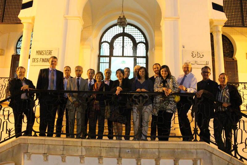 From left to right: Bill Neumann (HS President), Prof. Frank Braatz, Claude Tardif (ICRC), Mahrez Lamine, Sepp Heim, Susanne Friedrich, Fathi Hammami (CAO), Snjezana Cuk, Irfan Murtezani, Norbert Kieffer, Kathrin Seelige, Nicolas Munoz, Anja Brankovic, Dan Blocka, Chris Schlierf, Wilfried Raab.