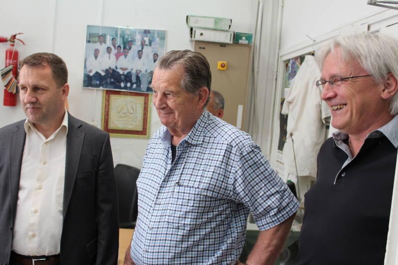 From left to right: Irfan Murtezani, Sepp Heim and Dan Blocka.